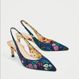 Slingback floral shoes (last one)